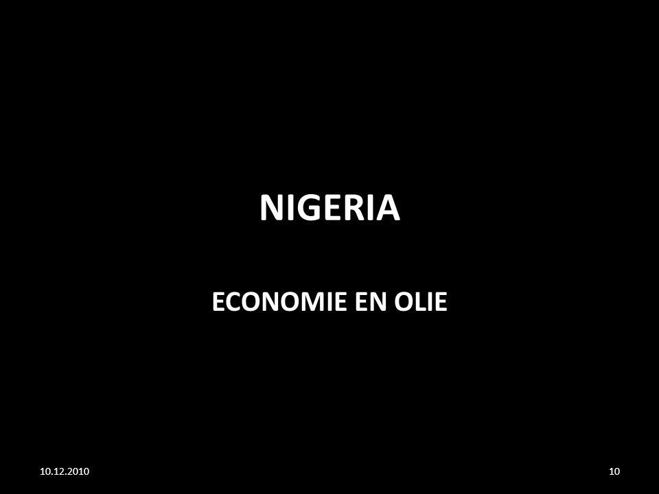 NIGERIA ECONOMIE EN OLIE 10.12.2010