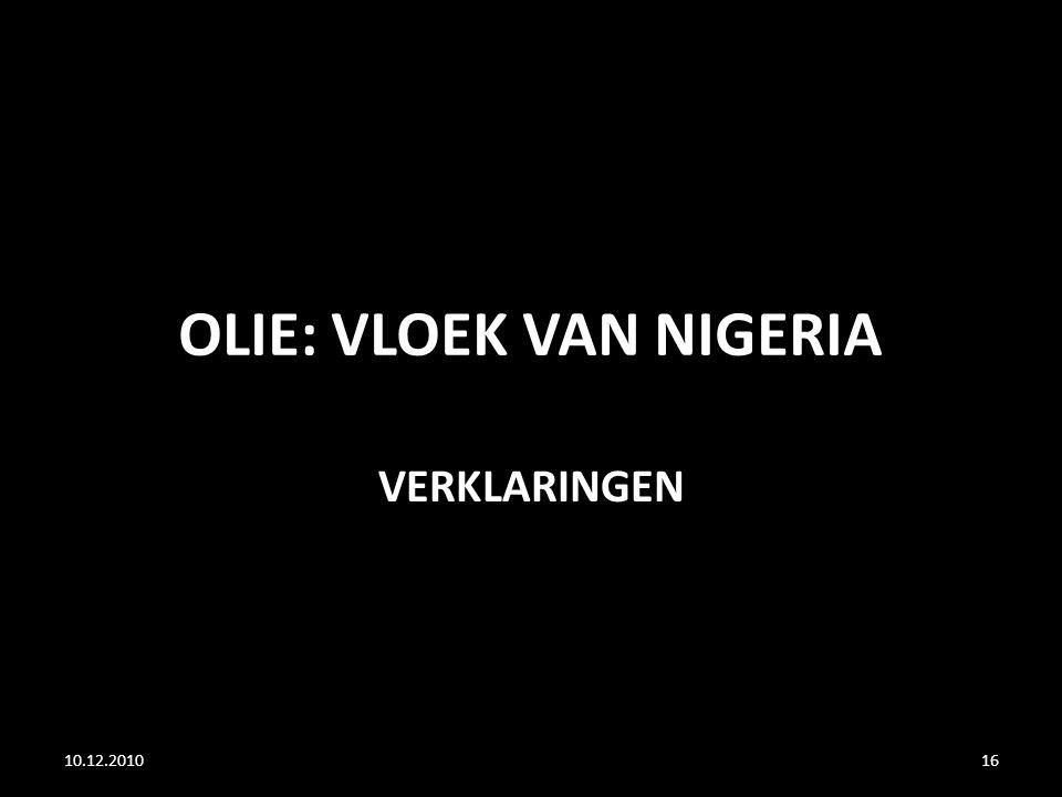 OLIE: VLOEK VAN NIGERIA