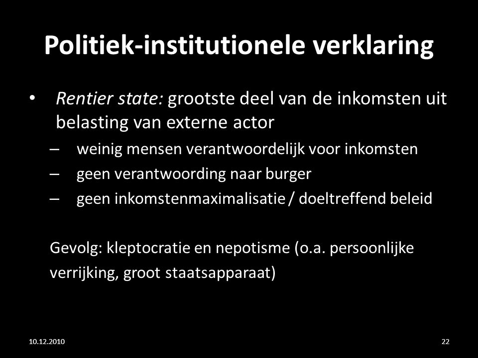 Politiek-institutionele verklaring