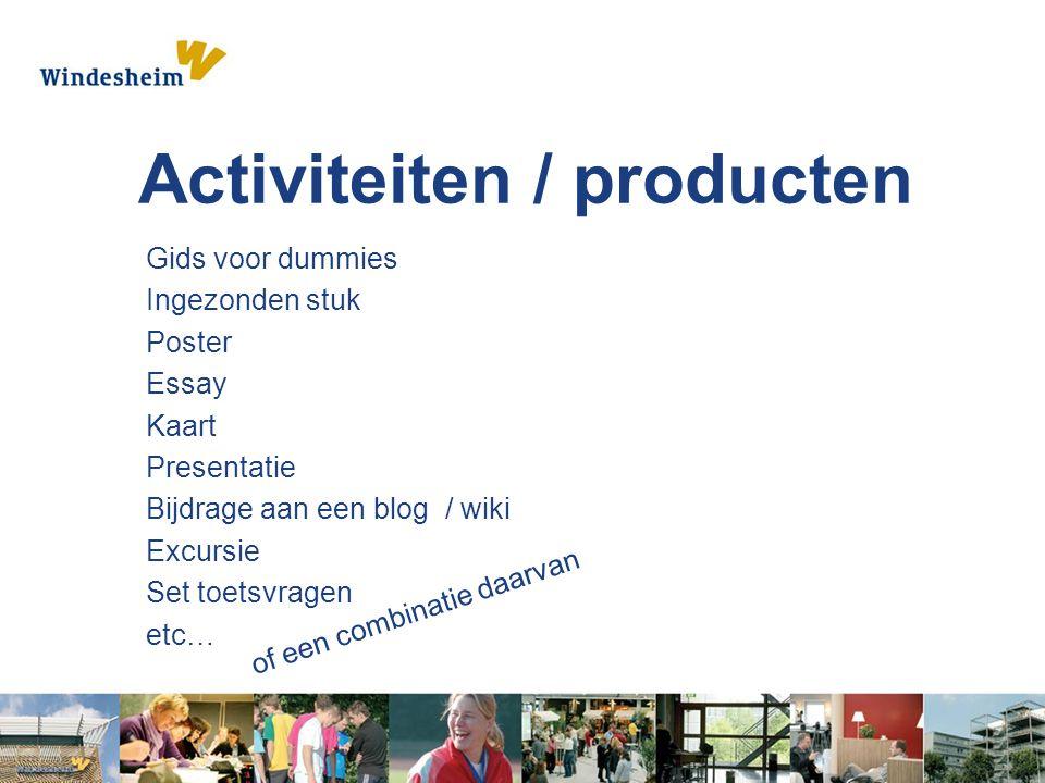Activiteiten / producten