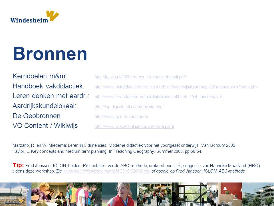 Bronnen Kerndoelen m&m: http://ko.slo.nl/00001/mens_en_maatschappij.pdf/