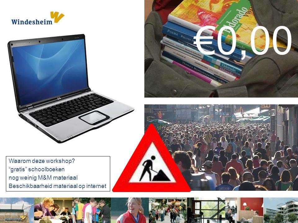 €0,00 Waarom deze workshop gratis schoolboeken