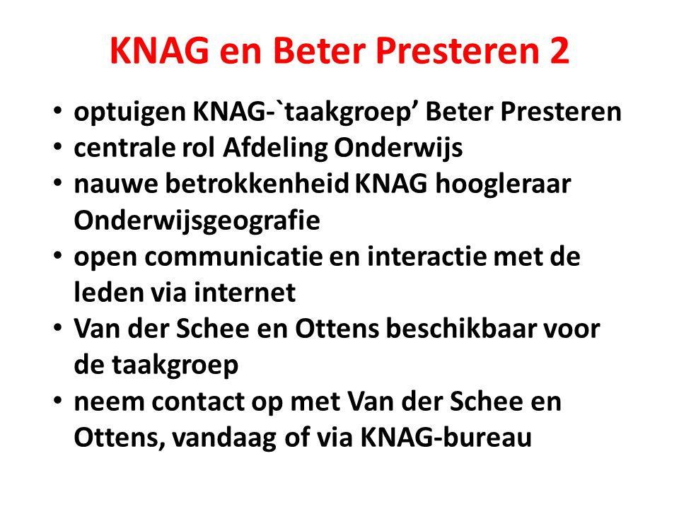 KNAG en Beter Presteren 2