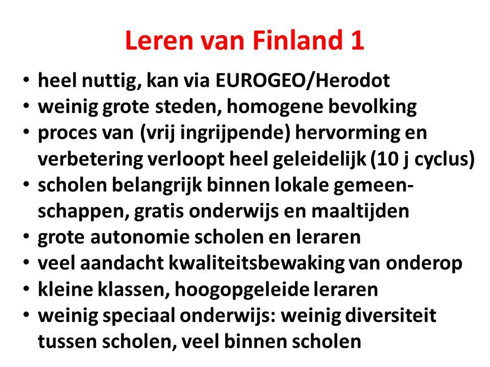 Leren van Finland 1 heel nuttig, kan via EUROGEO/Herodot