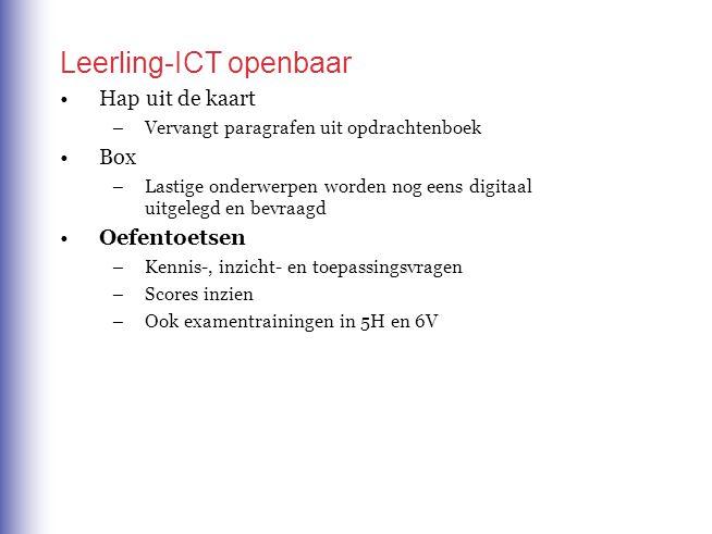 Leerling-ICT openbaar