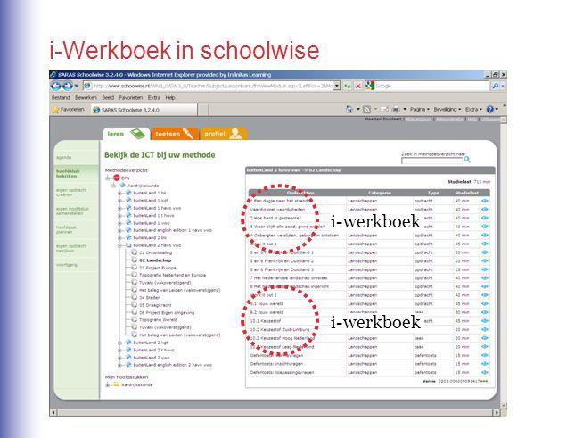i-Werkboek in schoolwise