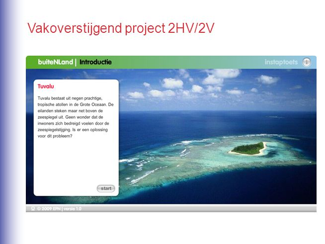 Vakoverstijgend project 2HV/2V
