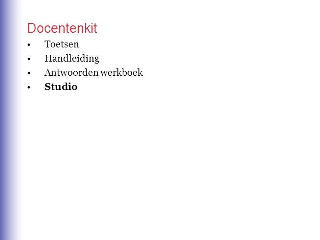 Docentenkit Toetsen Handleiding Antwoorden werkboek Studio