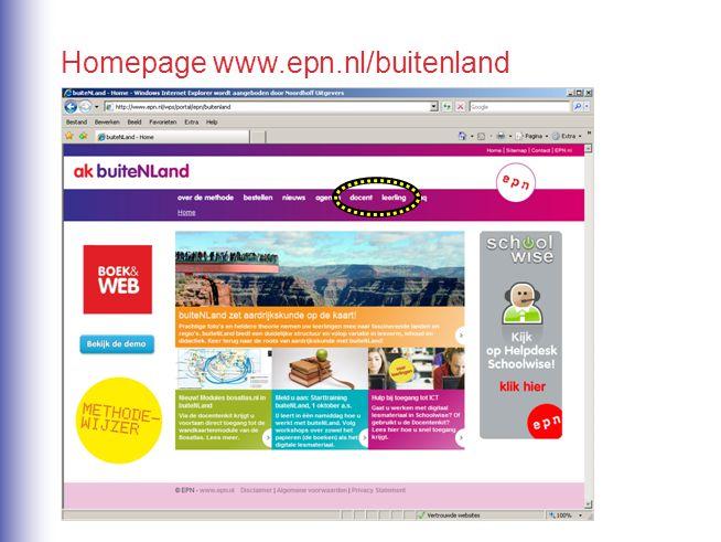 Homepage www.epn.nl/buitenland