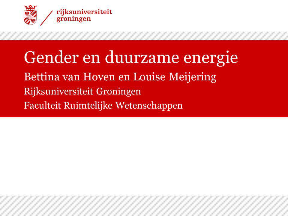 Gender en duurzame energie