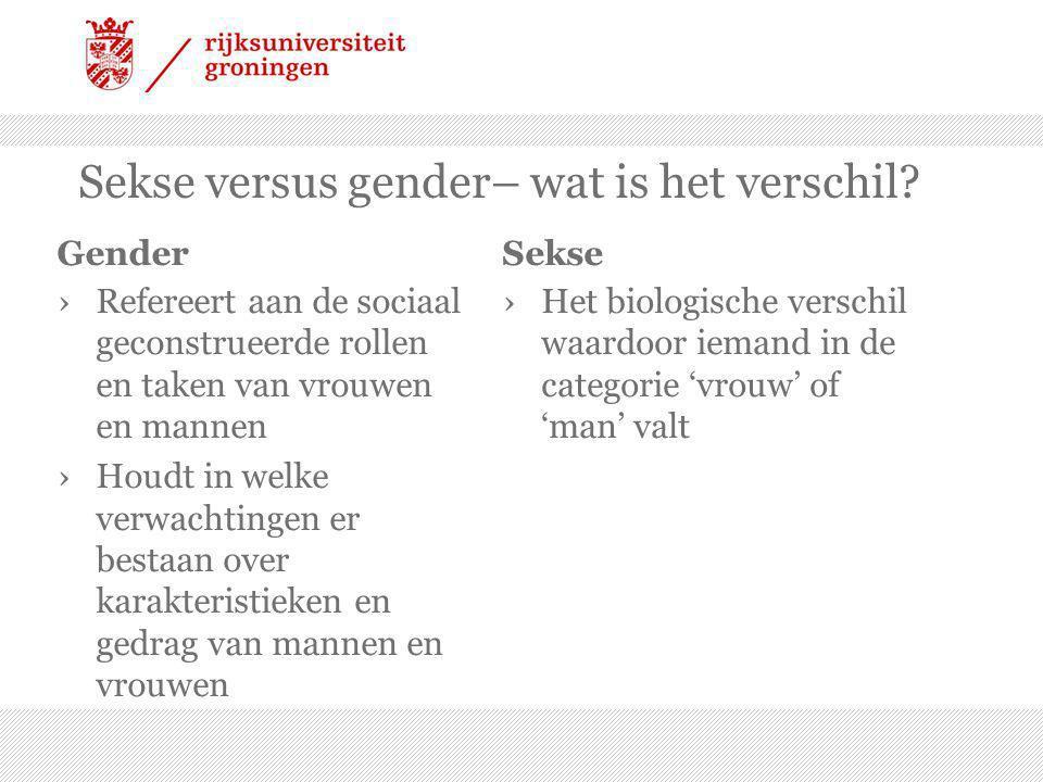 Sekse versus gender– wat is het verschil