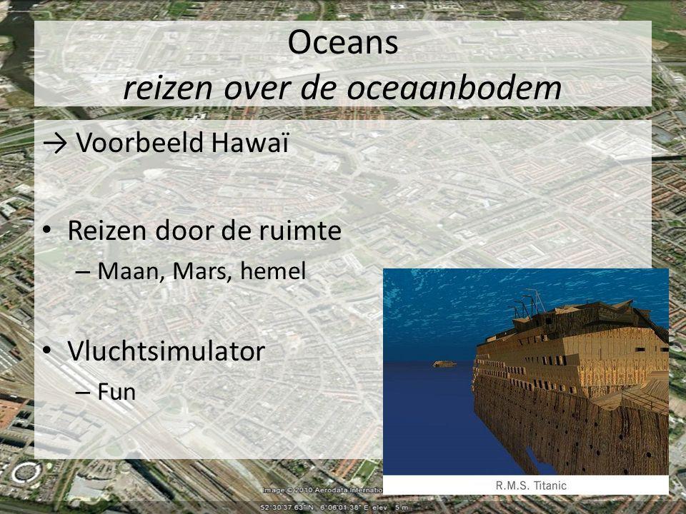 Oceans reizen over de oceaanbodem