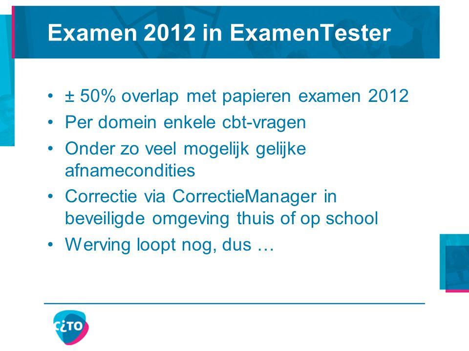 Examen 2012 in ExamenTester