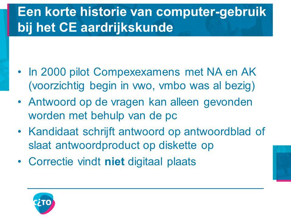 Een korte historie van computer-gebruik bij het CE aardrijkskunde