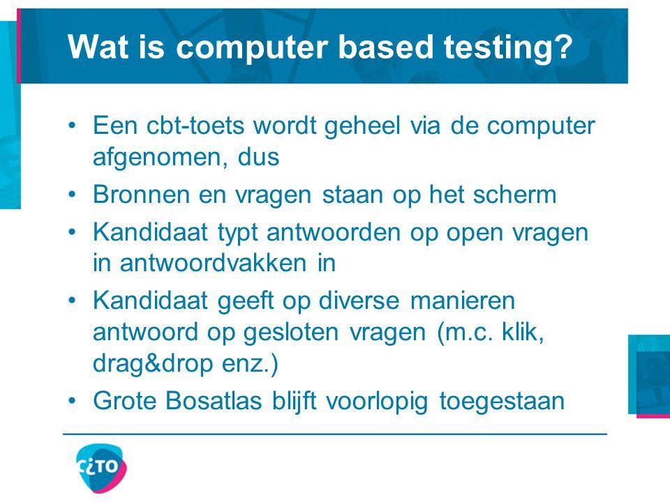 Wat is computer based testing