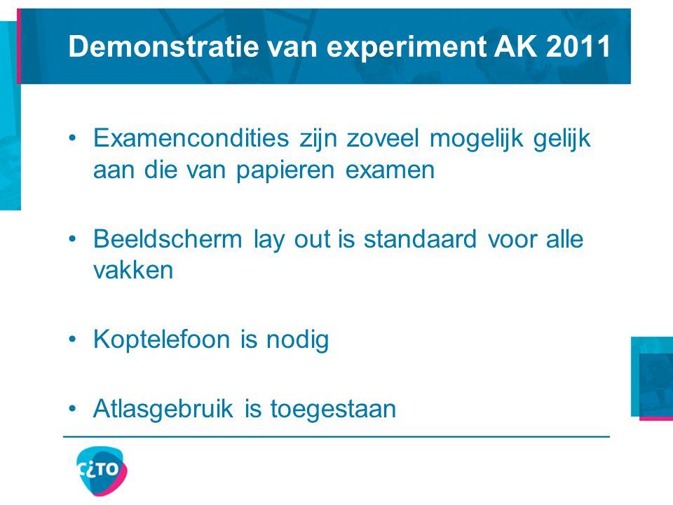 Demonstratie van experiment AK 2011