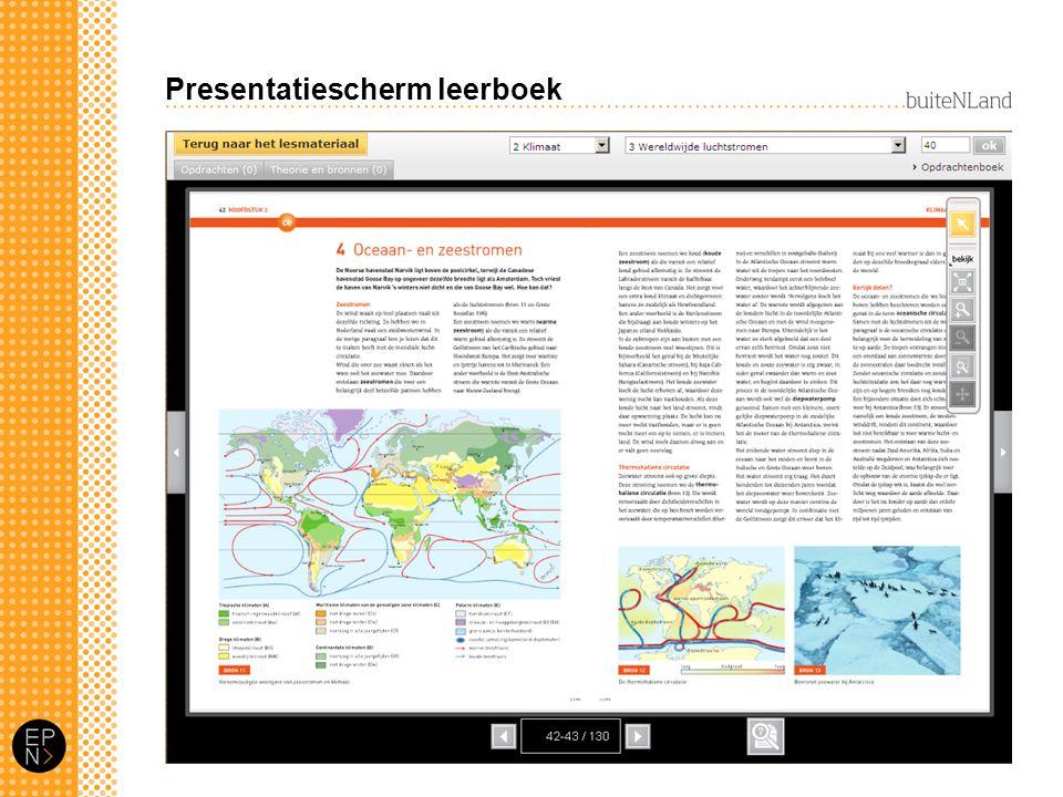 Presentatiescherm leerboek