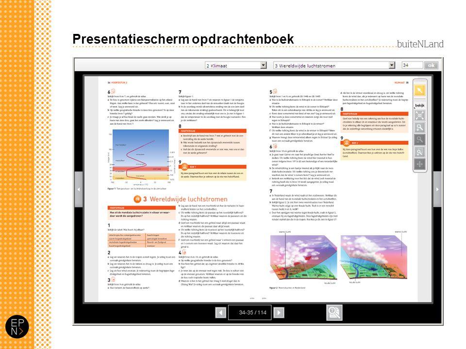 Presentatiescherm opdrachtenboek