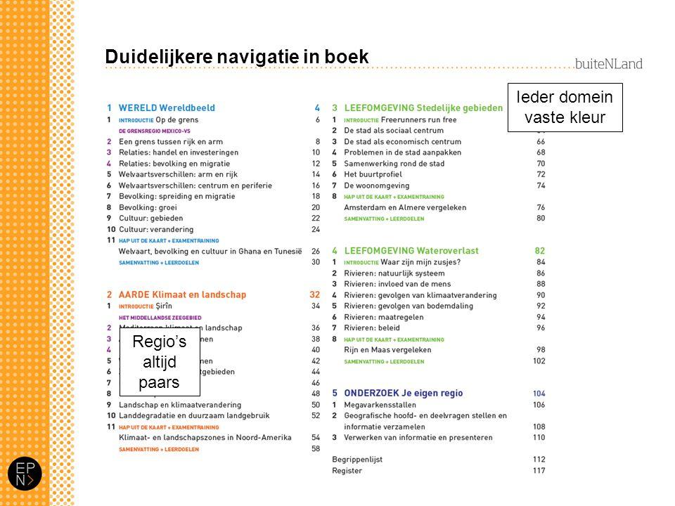 Duidelijkere navigatie in boek
