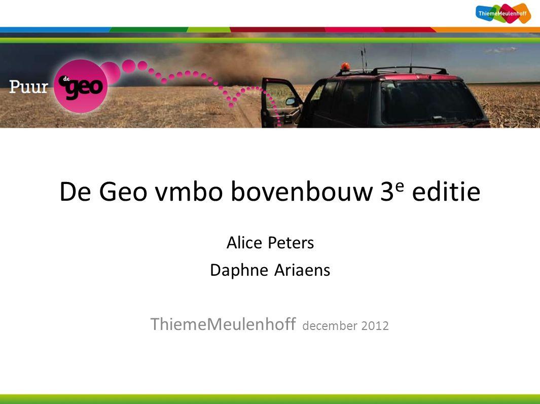De Geo vmbo bovenbouw 3e editie