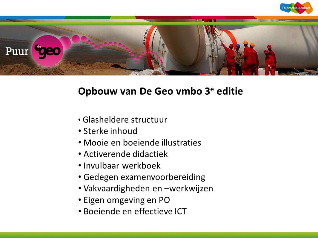 Opbouw van De Geo vmbo 3e editie