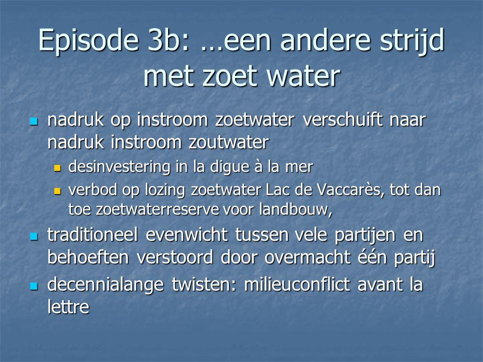 Episode 3b: …een andere strijd met zoet water