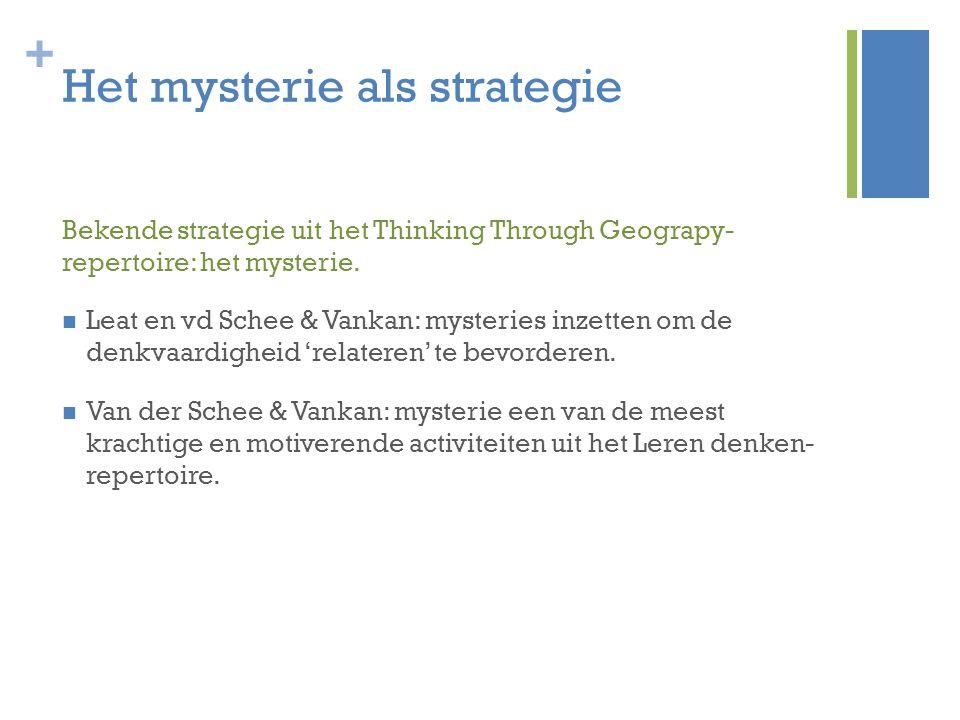 Het mysterie als strategie