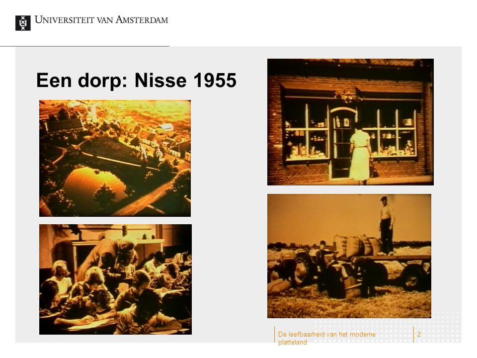 Een dorp: Nisse 1955 De leefbaarheid van het moderne platteland