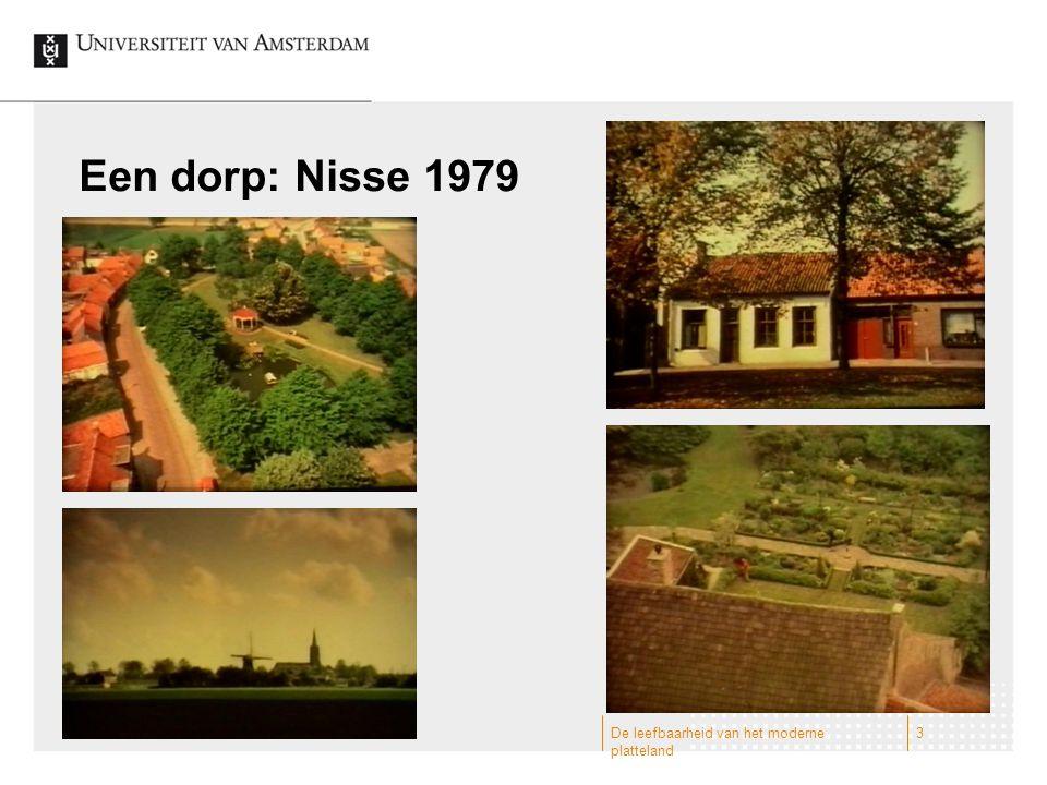 Een dorp: Nisse 1979 De leefbaarheid van het moderne platteland