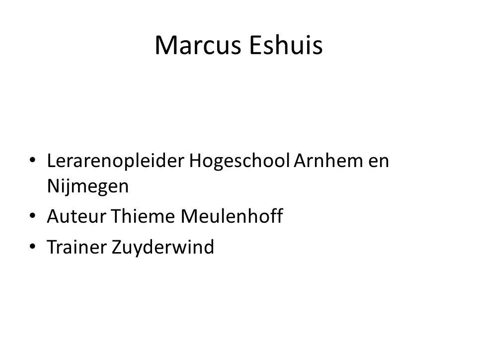 Marcus Eshuis Lerarenopleider Hogeschool Arnhem en Nijmegen