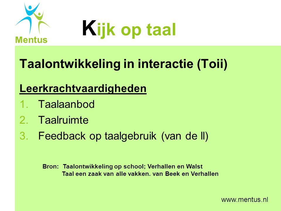 Taalontwikkeling in interactie (Toii)