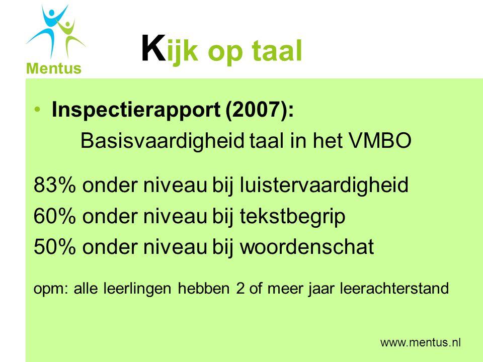 Basisvaardigheid taal in het VMBO