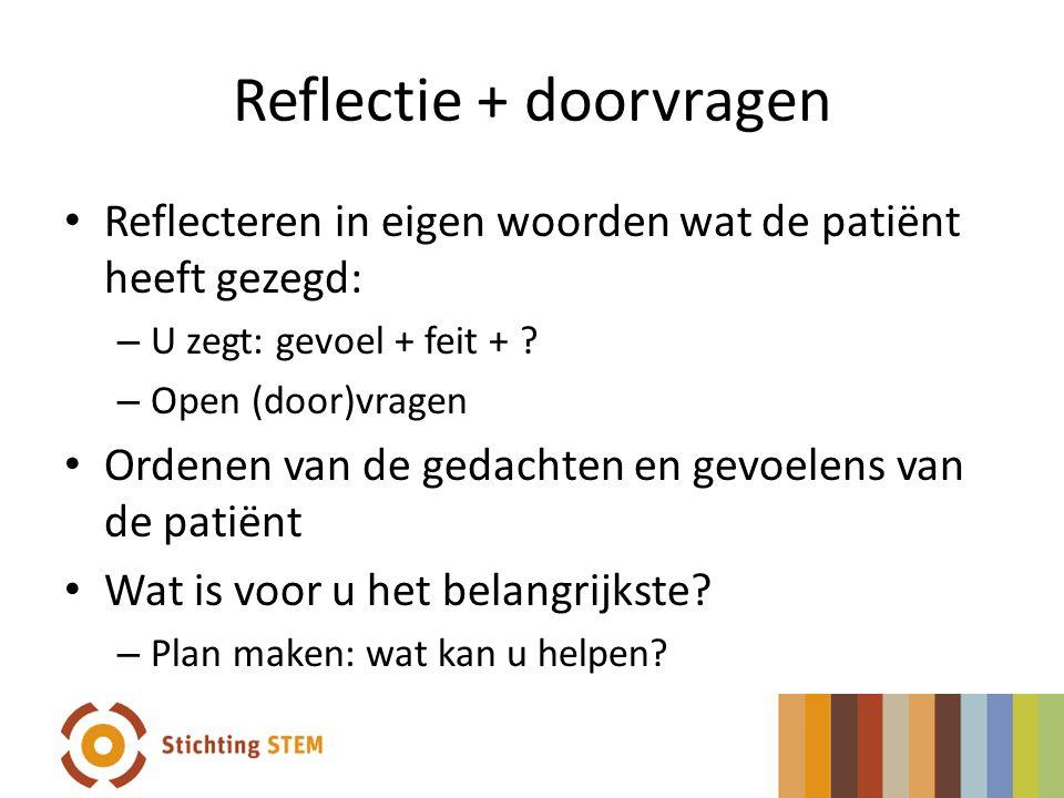 Reflectie + doorvragen