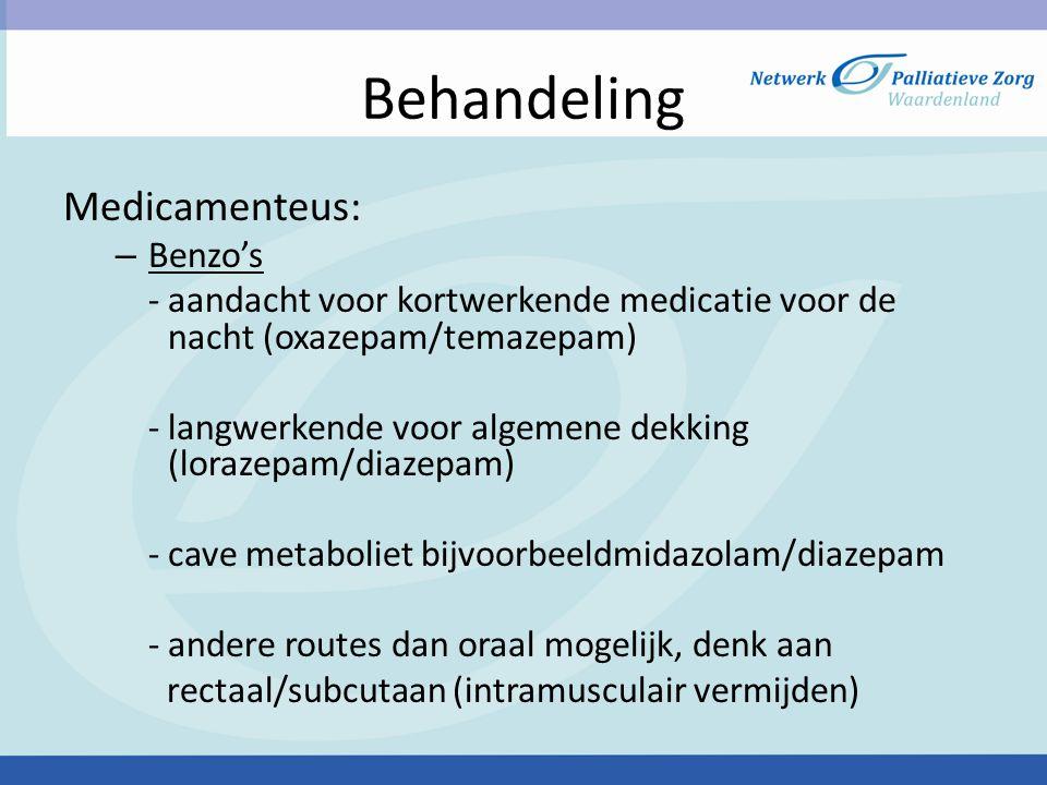 Behandeling Medicamenteus: Benzo's