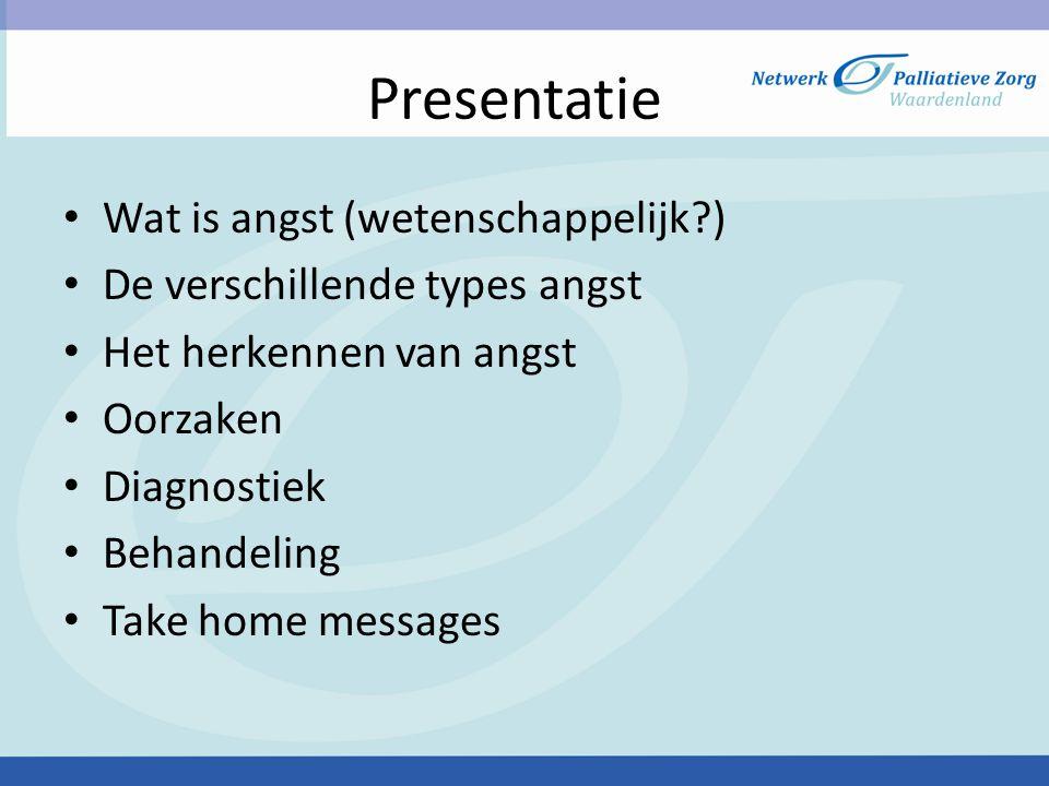 Presentatie Wat is angst (wetenschappelijk )