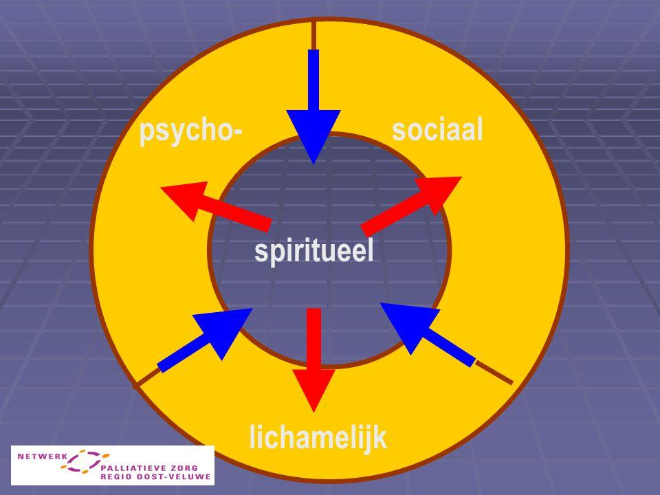 psycho- sociaal spiritueel lichamelijk