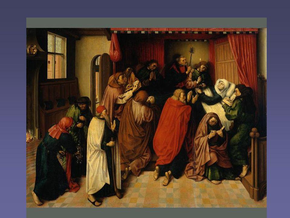 Het sterfbed van Maria Afscheid.