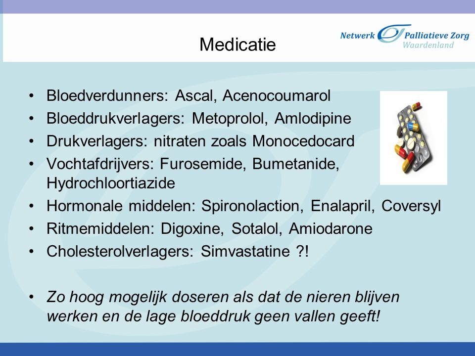 Medicatie Bloedverdunners: Ascal, Acenocoumarol