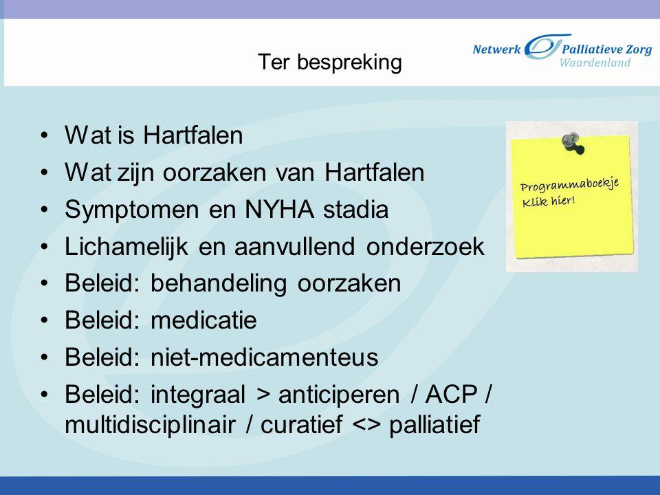 Wat zijn oorzaken van Hartfalen Symptomen en NYHA stadia