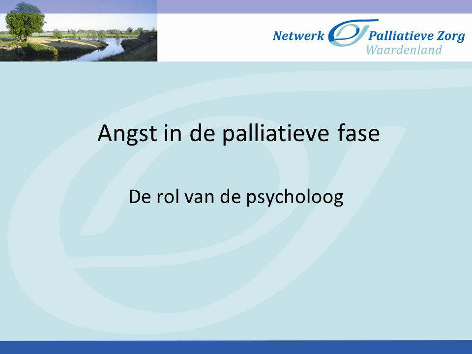 Angst in de palliatieve fase