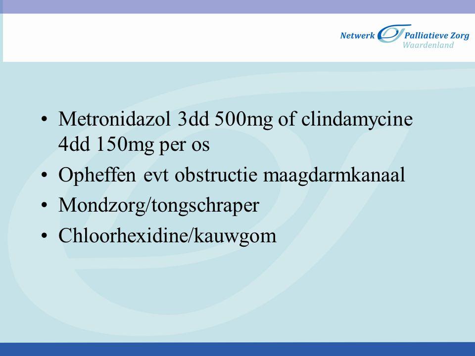 Metronidazol 3dd 500mg of clindamycine 4dd 150mg per os