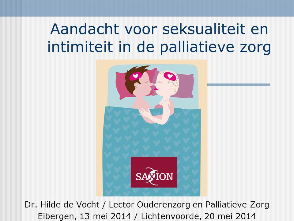 Aandacht voor seksualiteit en intimiteit in de palliatieve zorg