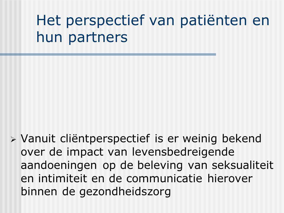 Het perspectief van patiënten en hun partners