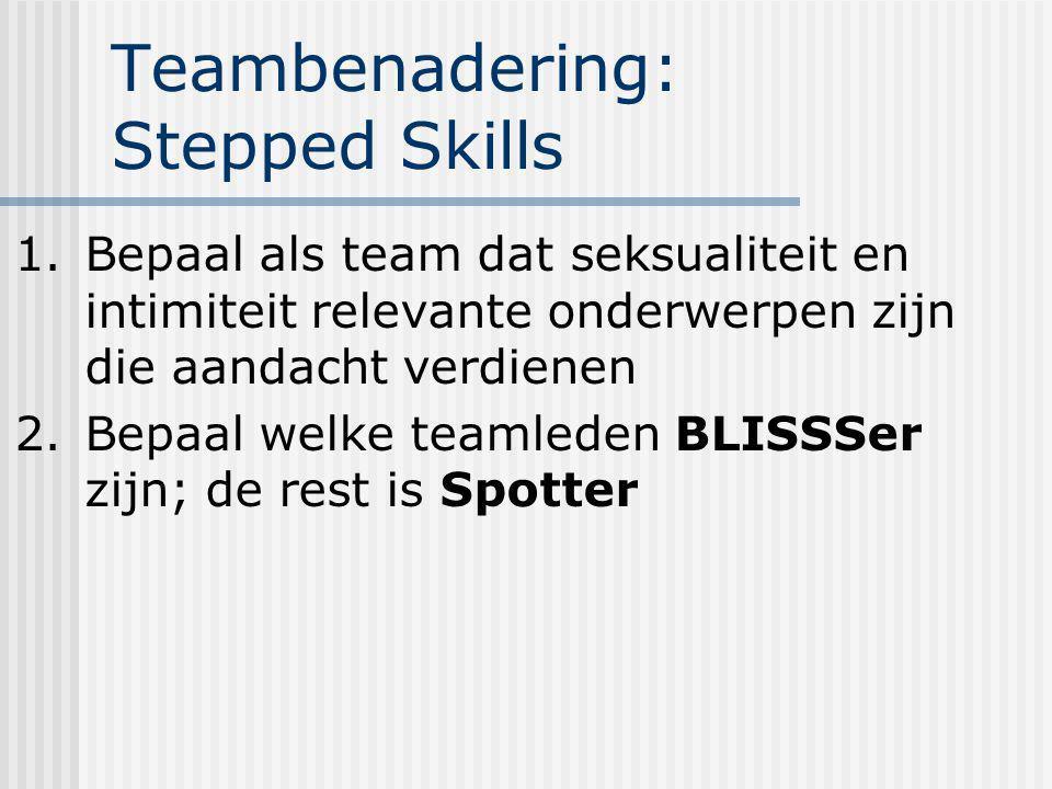 Teambenadering: Stepped Skills