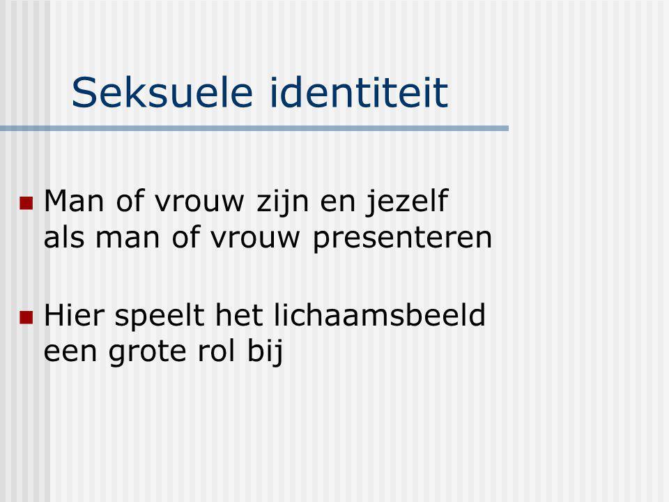 Seksuele identiteit Man of vrouw zijn en jezelf