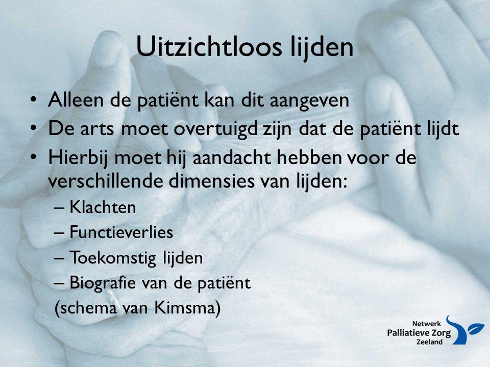 Uitzichtloos lijden Alleen de patiënt kan dit aangeven