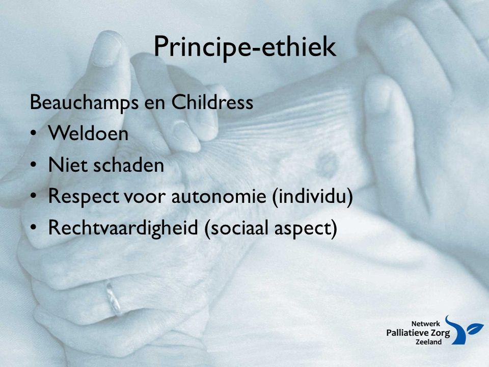 Principe-ethiek Beauchamps en Childress Weldoen Niet schaden