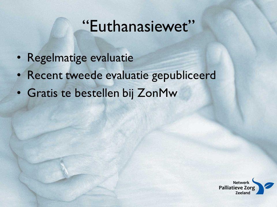Euthanasiewet Regelmatige evaluatie