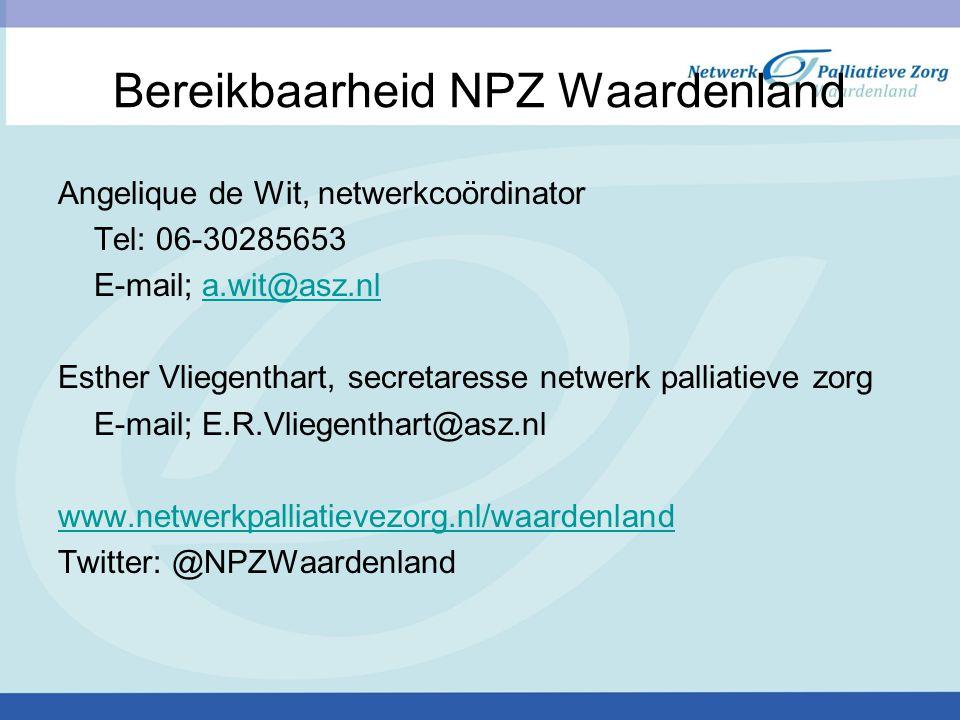 Bereikbaarheid NPZ Waardenland