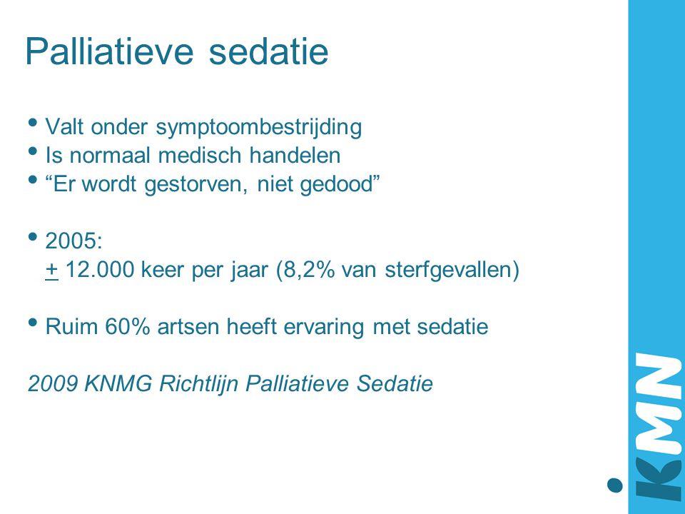 Palliatieve sedatie Valt onder symptoombestrijding